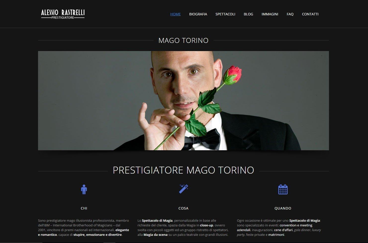 siti web per prestigiatori maghi illusionisti