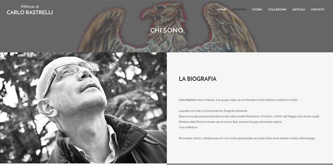 Sito Web Carlo Rastrelli