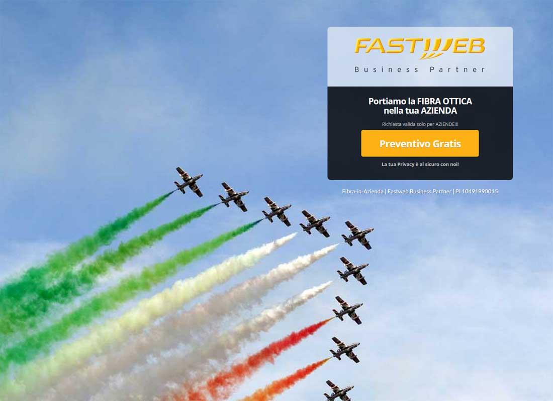 fastweb landing page