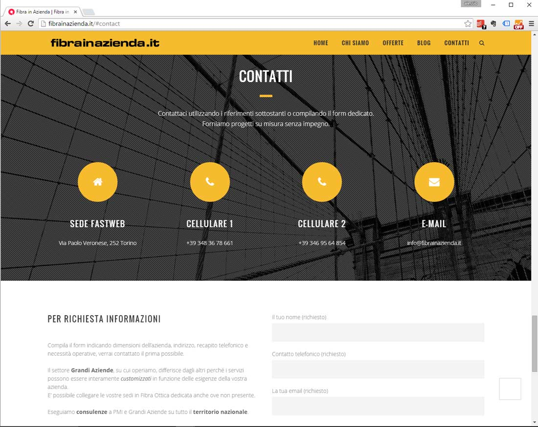sito web fastweb business partner