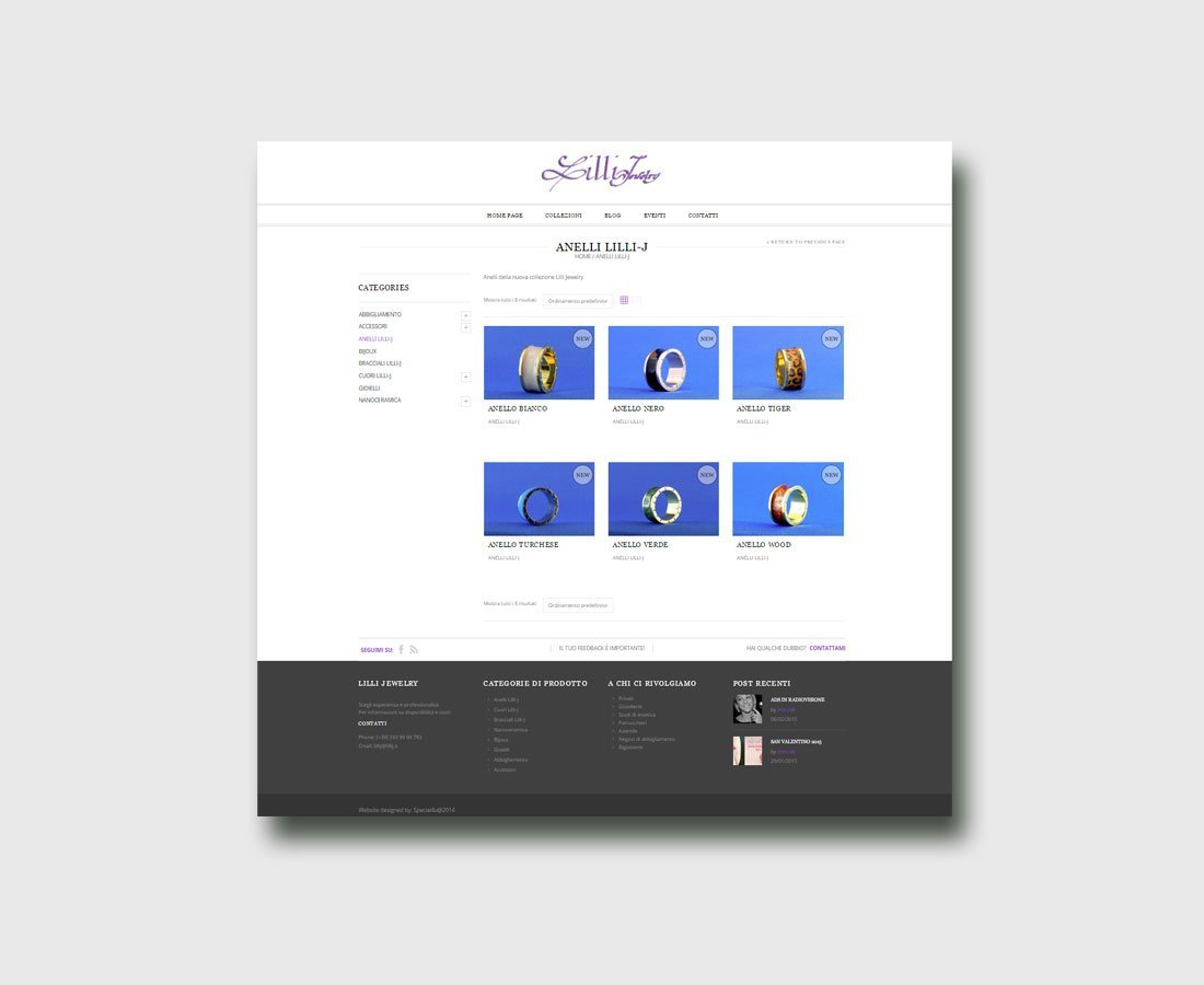 Sito Web LilliJ Gioielli e Bijoux by Special4u