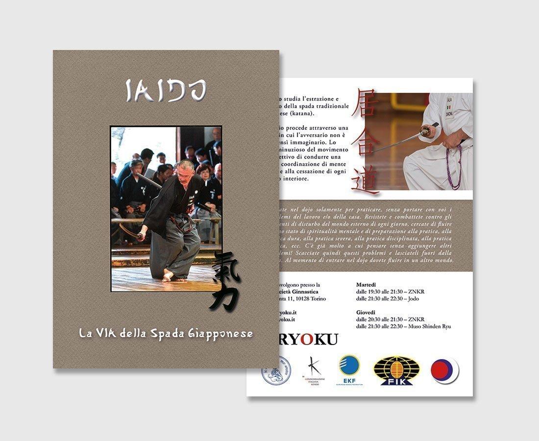 Volantino Arti Marziali IAIDO Kiryoku